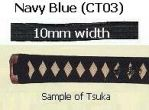 TSUKA-ITO Cotton Navy Blue 10mm width