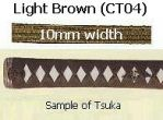 TSUKA-ITO Cotton Light Brown 10mm width