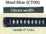 TSUKA-ITO Cotton Steel Blue 10mm width